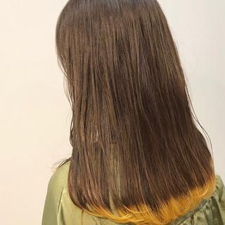 ガーリー 成人式 イエロー デート ヘアスタイルや髪型の写真・画像
