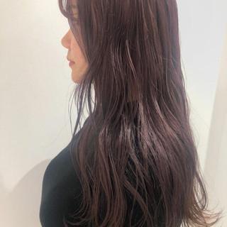 ラベンダー グレーアッシュ ラベンダーアッシュ ガーリー ヘアスタイルや髪型の写真・画像