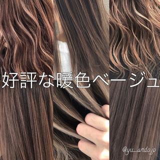 外国人風 外国人風カラー セミロング デート ヘアスタイルや髪型の写真・画像
