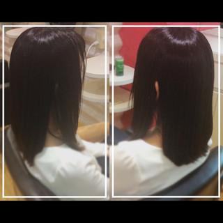 オフィス セミロング 髪質改善 社会人の味方 ヘアスタイルや髪型の写真・画像