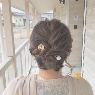 結婚式 成人式 ナチュラル ボブ ヘアスタイルや髪型の写真・画像