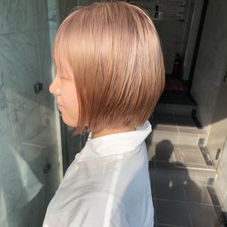 ショート ミルクティー ハイトーンカラー 外国人風カラー ヘアスタイルや髪型の写真・画像
