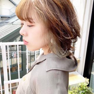 ボブ アッシュグレージュ ラベンダーグレージュ アッシュベージュ ヘアスタイルや髪型の写真・画像
