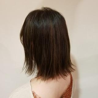 外ハネ ヘアオイル ボブ イルミナカラー ヘアスタイルや髪型の写真・画像