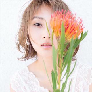 春 色気 インナーカラー ナチュラル ヘアスタイルや髪型の写真・画像