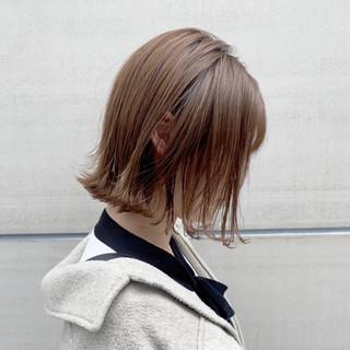 ハイトーンボブ 透明感カラー ナチュラル 似合わせカット ヘアスタイルや髪型の写真・画像