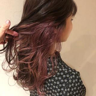ラベンダーピンク ピンクラベンダー ラベンダーアッシュ エレガント ヘアスタイルや髪型の写真・画像
