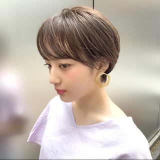 ナチュラル ショート デート 銀座美容室 ヘアスタイルや髪型の写真・画像