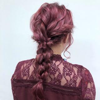 セミロング ヘアアレンジ 成人式 ナチュラル ヘアスタイルや髪型の写真・画像