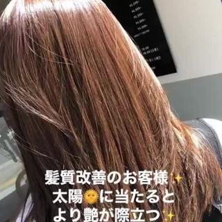 ロング 大人ハイライト ナチュラル 髪質改善トリートメント ヘアスタイルや髪型の写真・画像