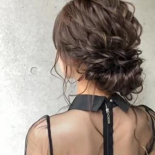 アンニュイ ナチュラル 結婚式 ヘアアレンジ ヘアスタイルや髪型の写真・画像