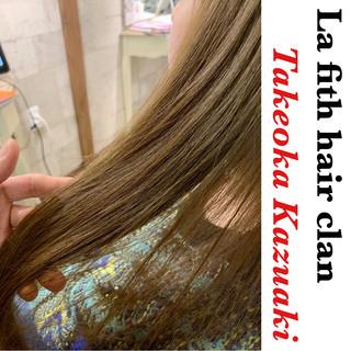 ナチュラル ロング 透明感 ブリーチなし ヘアスタイルや髪型の写真・画像