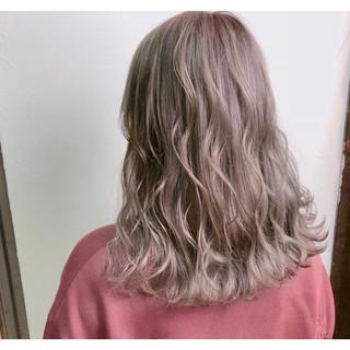 女子力 ウェーブ セミロング ゆるふわ ヘアスタイルや髪型の写真・画像