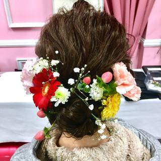 アップスタイル 成人式 ロング 結婚式 ヘアスタイルや髪型の写真・画像
