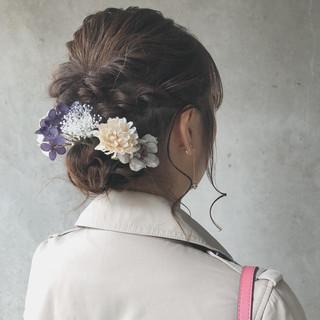 結婚式ヘアアレンジ ミディアム 大人ミディアム イベント ヘアスタイルや髪型の写真・画像