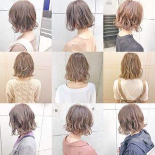 ボブ デート オフィス ナチュラル ヘアスタイルや髪型の写真・画像 ヘアスタイルや髪型の写真・画像