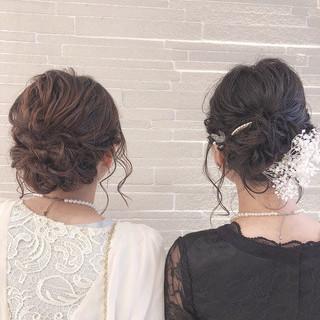 結婚式 簡単ヘアアレンジ ヘアアレンジ デート ヘアスタイルや髪型の写真・画像