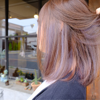 ボブ インナーカラー ブリーチ 外国人風 ヘアスタイルや髪型の写真・画像