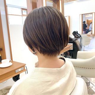 可愛い  ふんわりショート ナチュラル ヘアスタイルや髪型の写真・画像