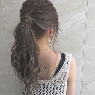 ハイライト イルミナカラー セミロング 外国人風カラー ヘアスタイルや髪型の写真・画像