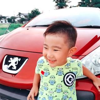 子供 アシメバング ストリート ショート ヘアスタイルや髪型の写真・画像