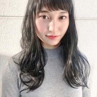 セミロング 地毛風カラー ナチュラル グレージュ ヘアスタイルや髪型の写真・画像