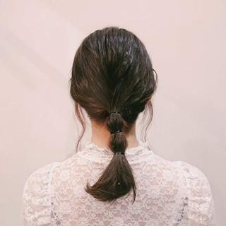 フェミニン 簡単ヘアアレンジ かわいい ヘアアレンジ ヘアスタイルや髪型の写真・画像