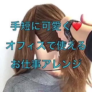 ポニーテール オフィス エレガント 簡単ヘアアレンジ ヘアスタイルや髪型の写真・画像 ヘアスタイルや髪型の写真・画像
