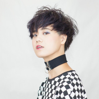 黒髪 ショート 透明感 大人かわいい ヘアスタイルや髪型の写真・画像