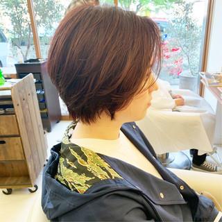 ショート ショートヘア ハンサムショート ナチュラル ヘアスタイルや髪型の写真・画像 ヘアスタイルや髪型の写真・画像