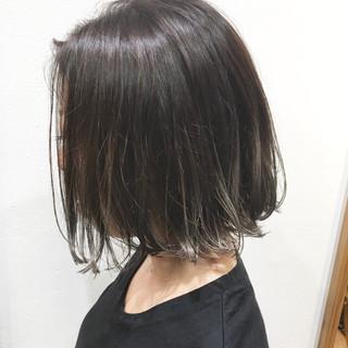 ハイライト グレージュ ナチュラル ショート女子 ヘアスタイルや髪型の写真・画像