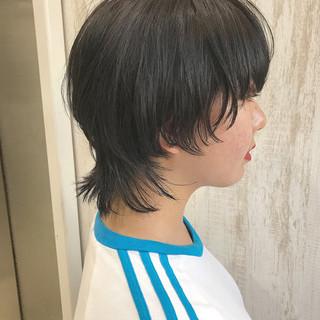 マッシュウルフ ボブ ウルフカット モード ヘアスタイルや髪型の写真・画像