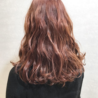 ミルクティーベージュ ガーリー 韓国ヘア ラベンダーピンク ヘアスタイルや髪型の写真・画像