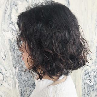 スパイラルパーマ ボブ パーマ  ヘアスタイルや髪型の写真・画像