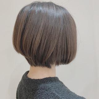 ミニボブ 丸みショート モテボブ ボブ ヘアスタイルや髪型の写真・画像
