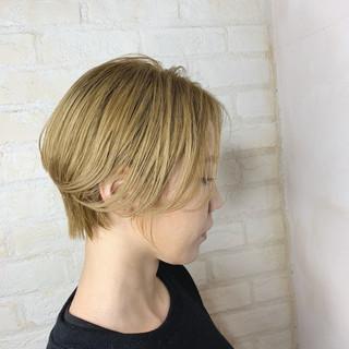 ナチュラル ショート ショートボブ 簡単ヘアアレンジ ヘアスタイルや髪型の写真・画像