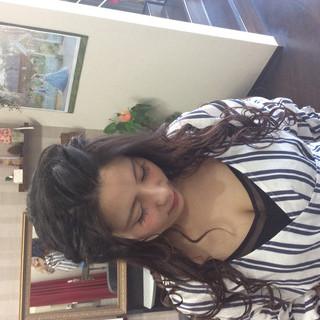 ナチュラル ヘアアレンジ ロング 編み込みヘア ヘアスタイルや髪型の写真・画像