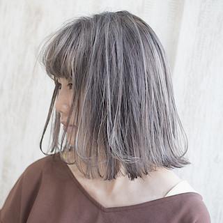ミルクティーブラウン ボブ ミルクティーベージュ ショートボブ ヘアスタイルや髪型の写真・画像
