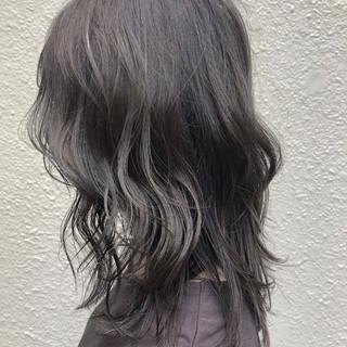 ヘアアレンジ ミディアム ハイライト イルミナカラー ヘアスタイルや髪型の写真・画像