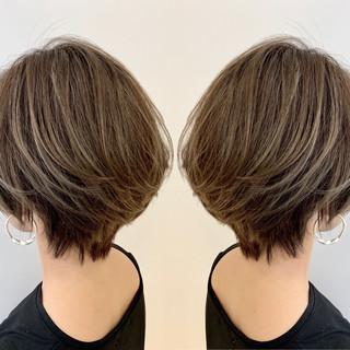 モテ髪 ショート 似合わせカット ナチュラル ヘアスタイルや髪型の写真・画像