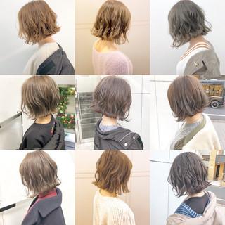 ナチュラル 簡単ヘアアレンジ パーマ アウトドア ヘアスタイルや髪型の写真・画像
