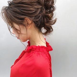 フェミニン アンニュイほつれヘア ヘアアレンジ 大人かわいい ヘアスタイルや髪型の写真・画像