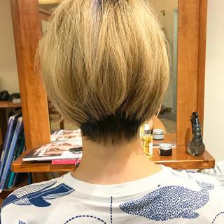 ナチュラル 簡単スタイリング ショート アイロンワーク ヘアスタイルや髪型の写真・画像
