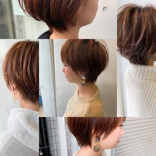ボブ ショートヘア ショートボブ フェミニン ヘアスタイルや髪型の写真・画像