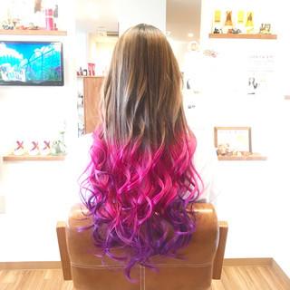 成人式 メッシュ ガーリー 外国人風カラー ヘアスタイルや髪型の写真・画像
