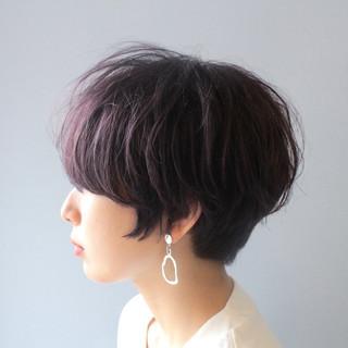 ショート 小顔ショート ナチュラル ショートヘア ヘアスタイルや髪型の写真・画像