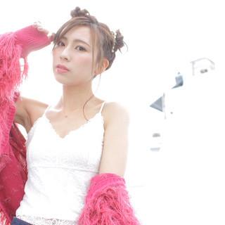 フェミニン デート 簡単ヘアアレンジ 撮影 ヘアスタイルや髪型の写真・画像