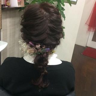 編み込みヘア 編み込み ヘアカラー ナチュラル ヘアスタイルや髪型の写真・画像