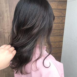 外国人風カラー フェミニン デート ミディアム ヘアスタイルや髪型の写真・画像