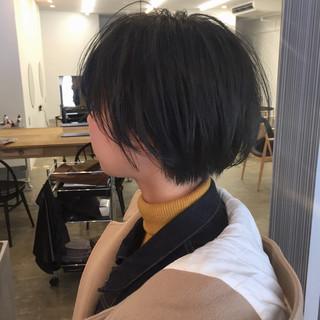 小顔ショート ハンサムショート ショート 大人ショート ヘアスタイルや髪型の写真・画像